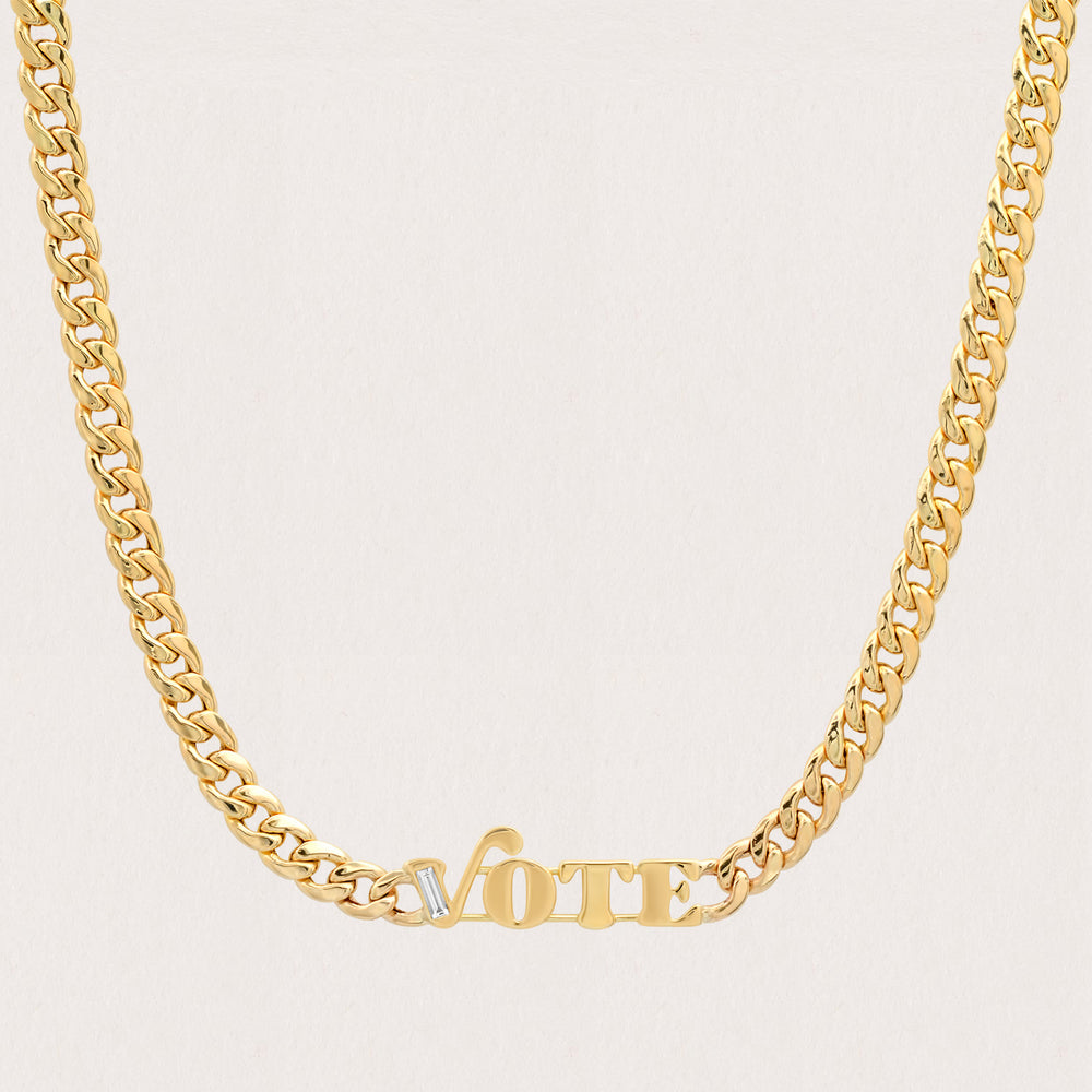 Custom Diamond Nameplate Necklace