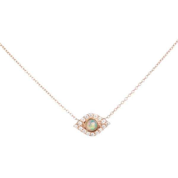 Opal Of My Eye Necklace, White Gold