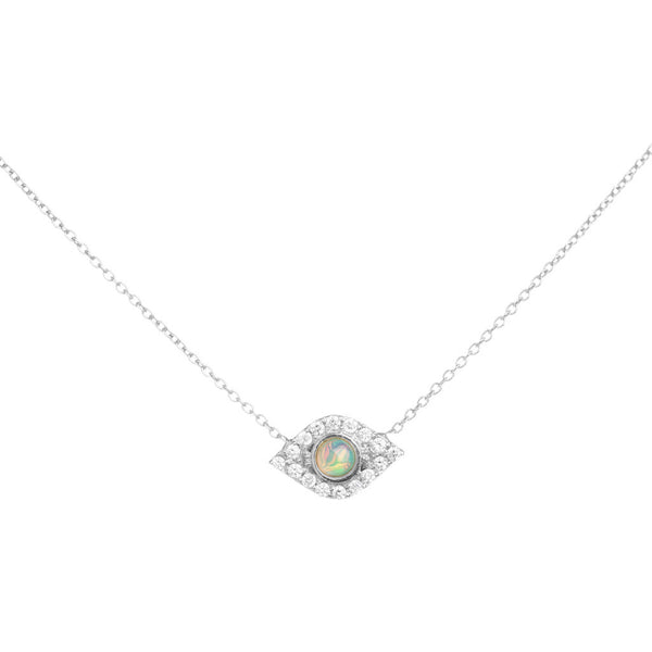 Opal Of My Eye Necklace, Yellow Gold