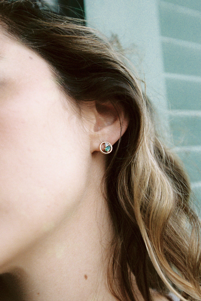 Kaleidoscope Earrings, Emerald