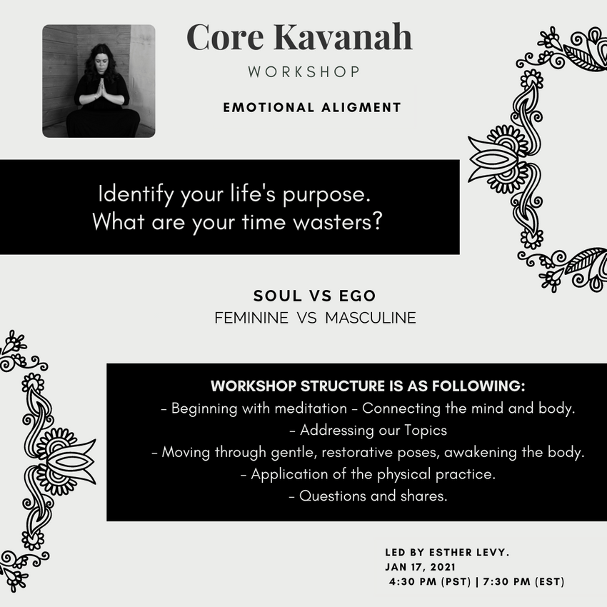 Core Kavanah: January Workshop