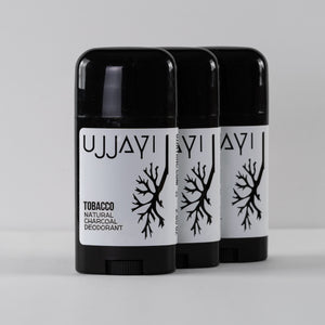 3 Pack CHARCOAL DEODORANT - TOBACCO