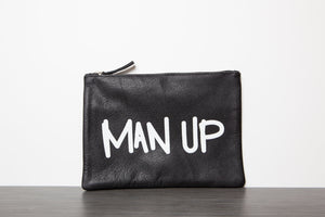 "Men's Leather ""MAN UP"" Toiletry Bag"