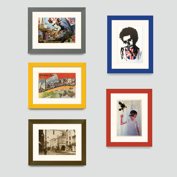 various colours of postcard pictures frames available