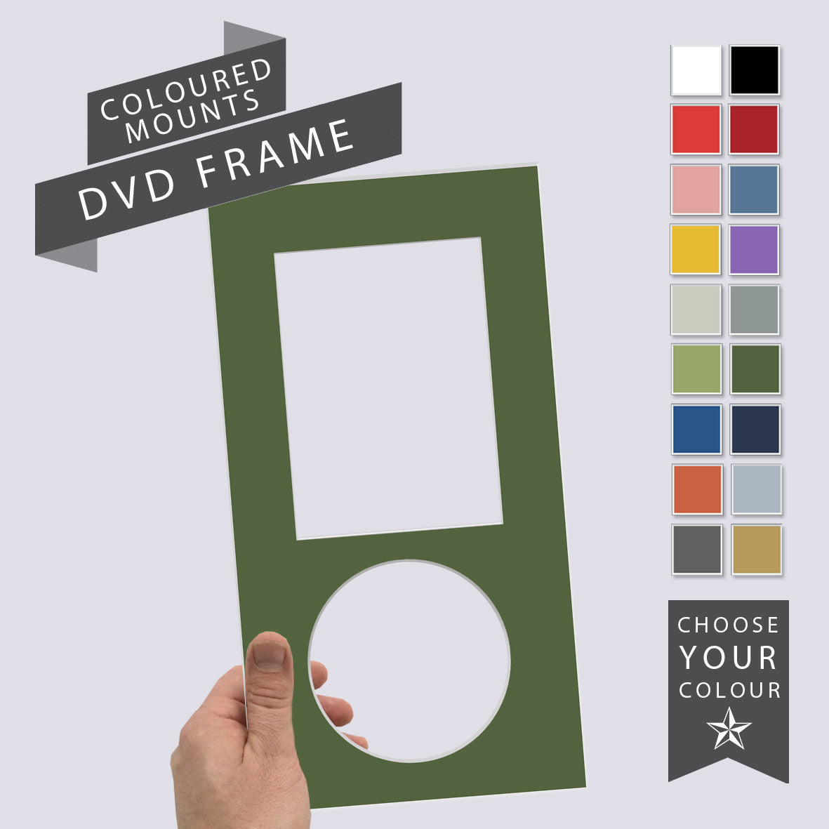 Add a Coloured Mount: DVD