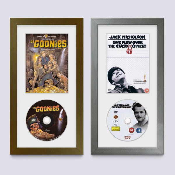 display classic dvd covers and disc in these picture frames