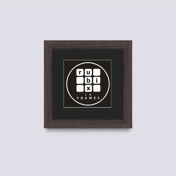 dark wood cd single picture frame with black mount