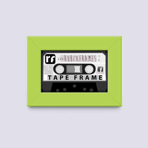 Green - Light Audio Cassette Tape Frame