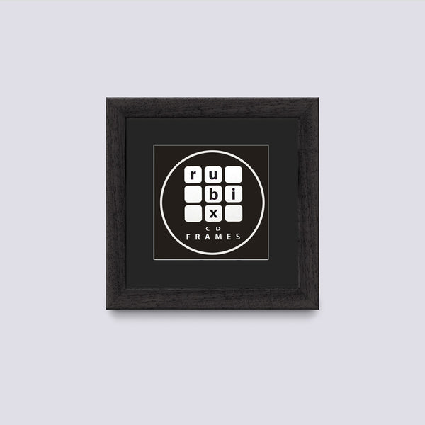mat black cd picture frame with black mount