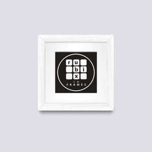 mat white cd single picture frame with white mount