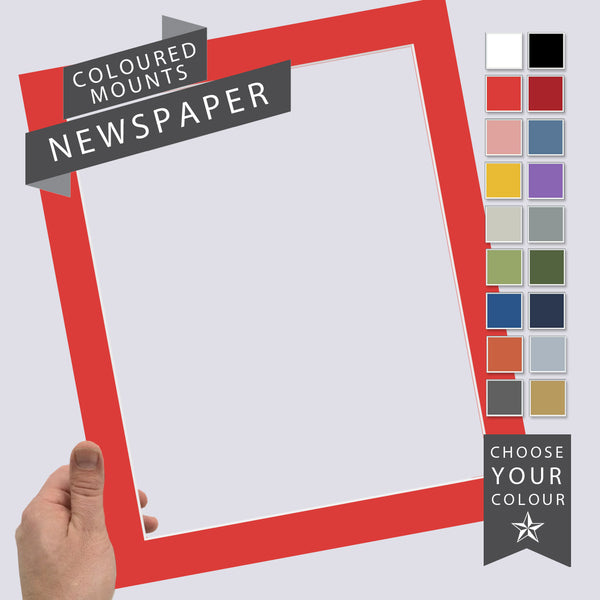 Add a Coloured Mount: Newspaper Frame