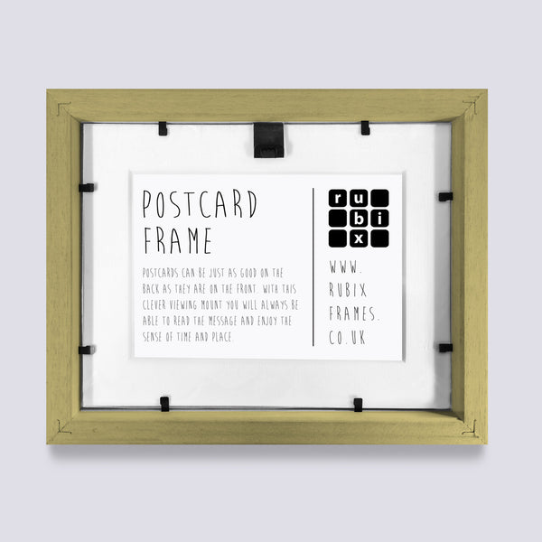 rear view of postcard picture frames