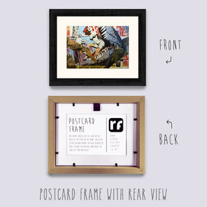 Black (Wood Grain) Postcard Picture Frame
