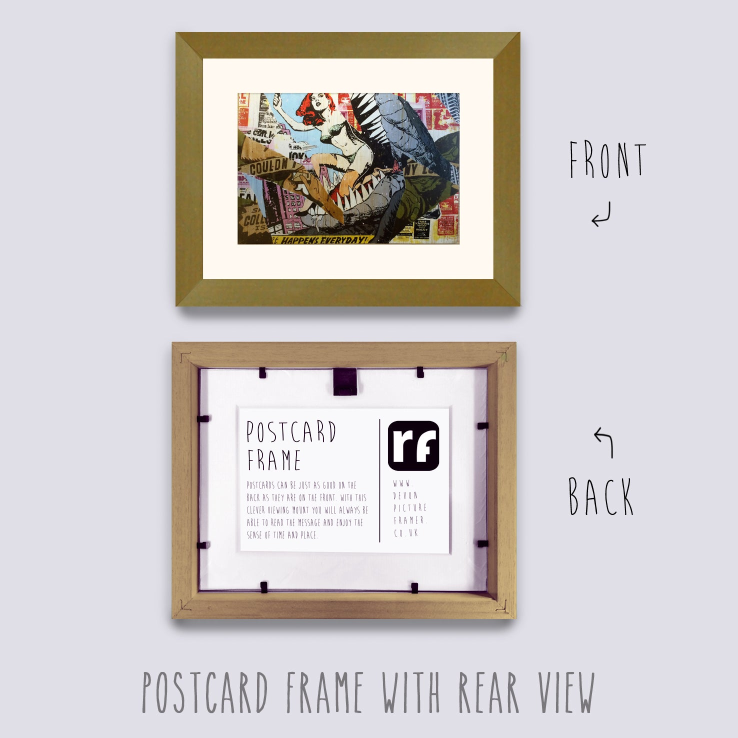 Gold Postcard Picture Frame