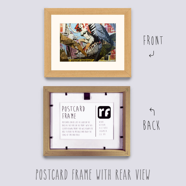 Cream (Wood Grain) Postcard Picture Frame
