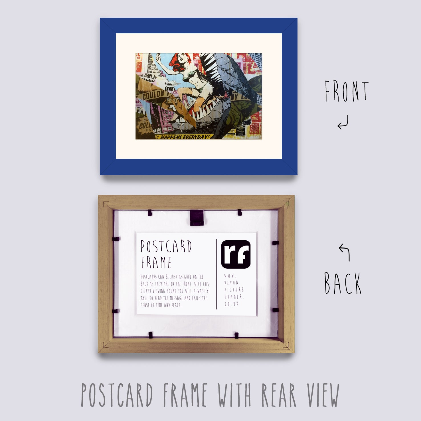 Blue - Medium Postcard Picture Frame