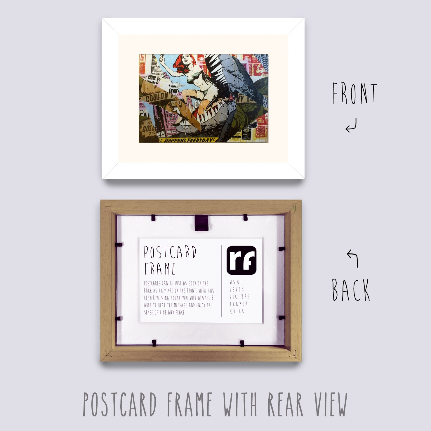 White Postcard Picture Frame