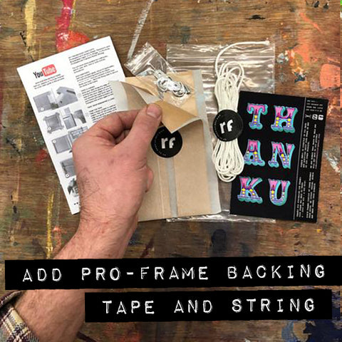 ADD PRO-FRAME BACKING