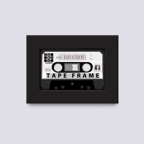 Audio Cassette Tape Wooden Frame