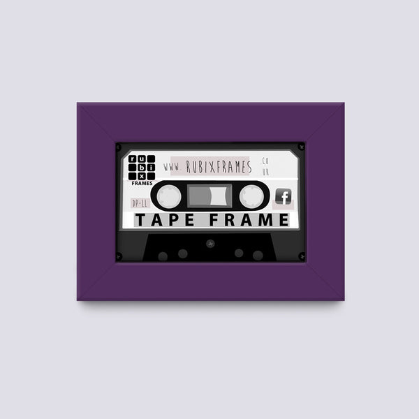 Dark Purple Cassette Wooden Frame Handmade
