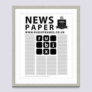 Grey - Light (Wood Grain) Newspaper Frame