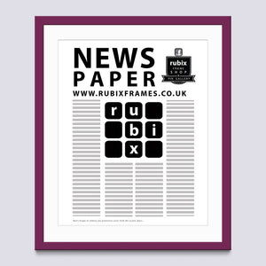 Purple - Light Newspaper Frame