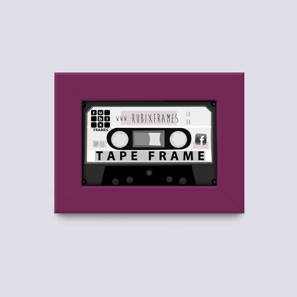 Light Purple audio cassette frame handmade