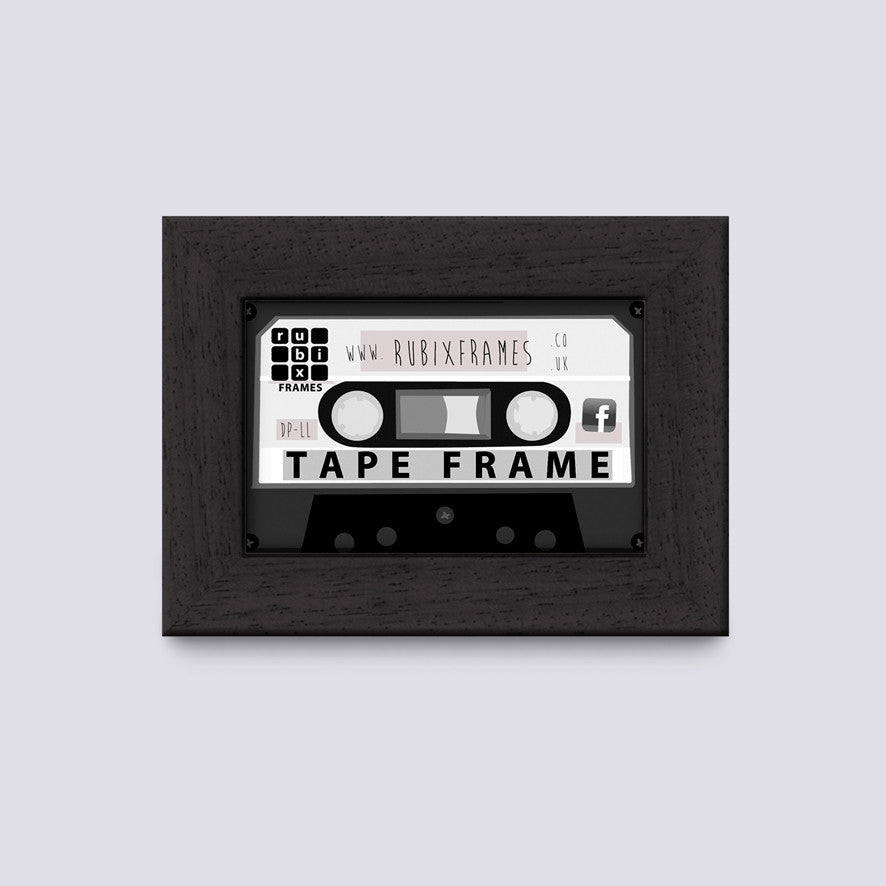 matt black audio cassette frame for case or tape