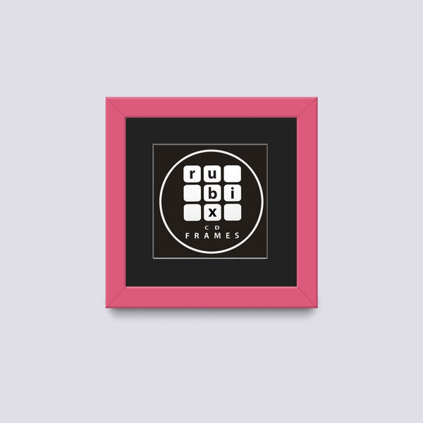 pink cd single picture frame with black mount