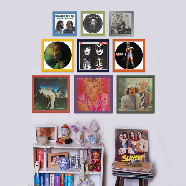 various colours available on all record collectors frames
