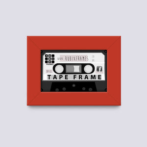 Red Cassette frame handmade from quality wood mouldings