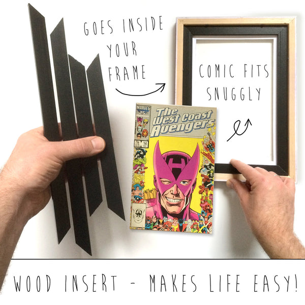 pink comic book frame for manga comics
