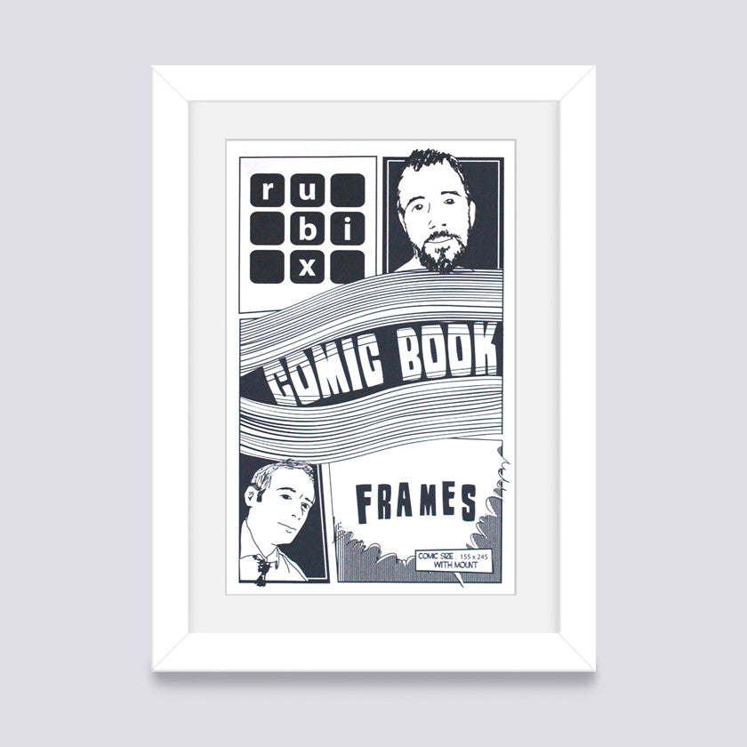 White Comic Book Frame – Rubix Frames