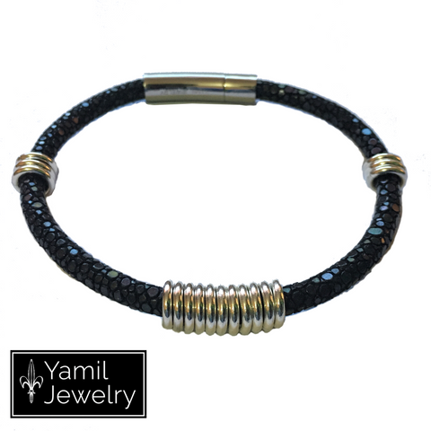 Black Stingray FR Bracelet - Yamil Jewelry