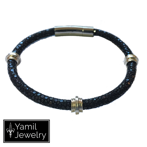 Black Stingray 3R Bracelet - Yamil Jewelry