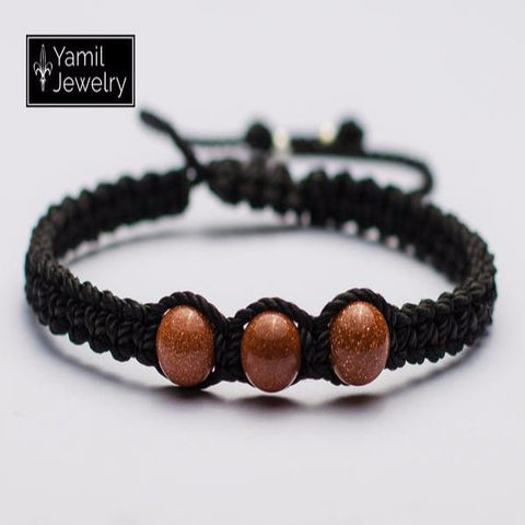 Brown Aventurine Macramé Natural Bracelet - Yamil Jewelry - 1