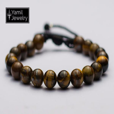 Tiger's eye Natural Bracelet - Yamil Jewelry - 1