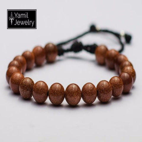 Brown Aventurine Natural Bracelet - Yamil Jewelry - 1