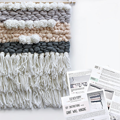 Diy Giant Loom Free Wall Hanging Downloadable Pdf Instructions