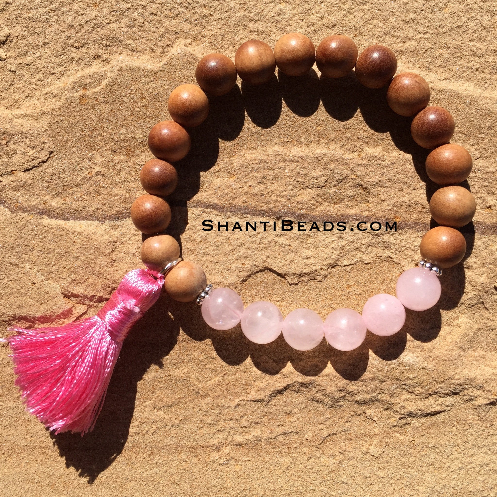Fragrant Sandalwood With Pink Quartz &Amp; Silk...