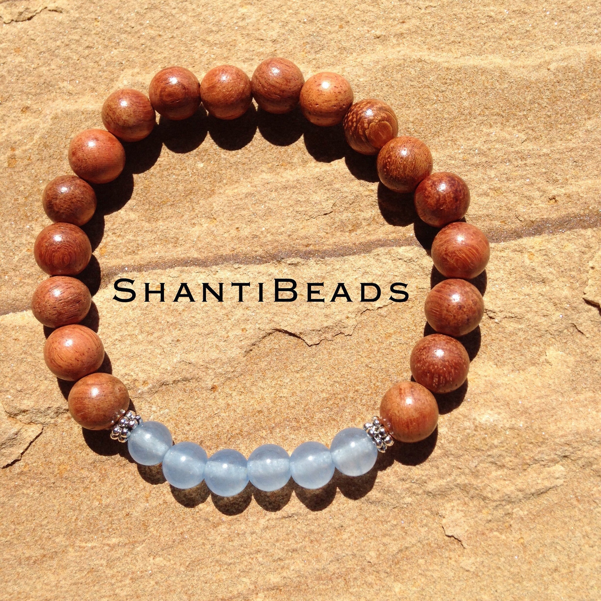 Fragrant Sandalwood With Natural Blue Chalcedony