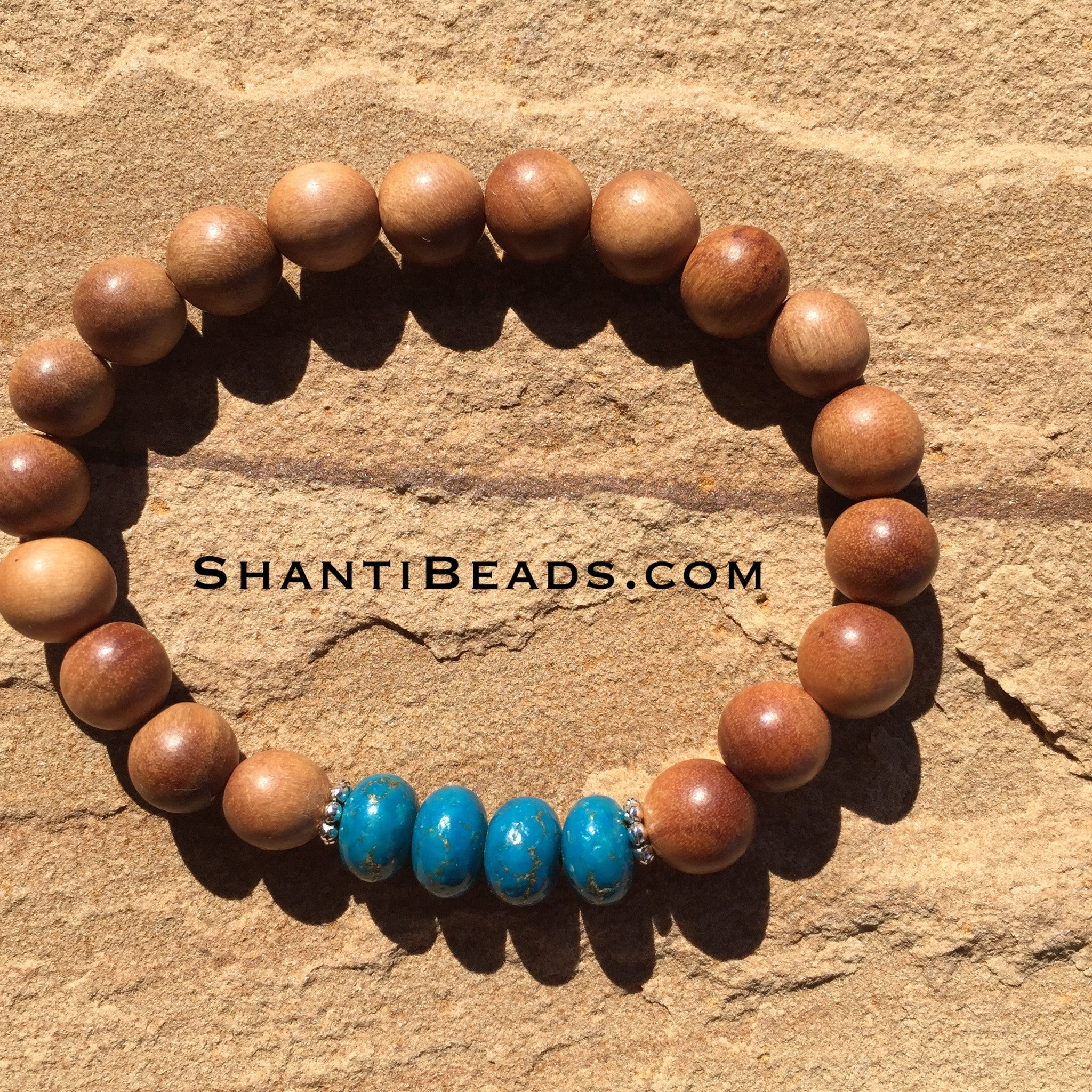 Sandalwood With Bronze Infused Turquoise