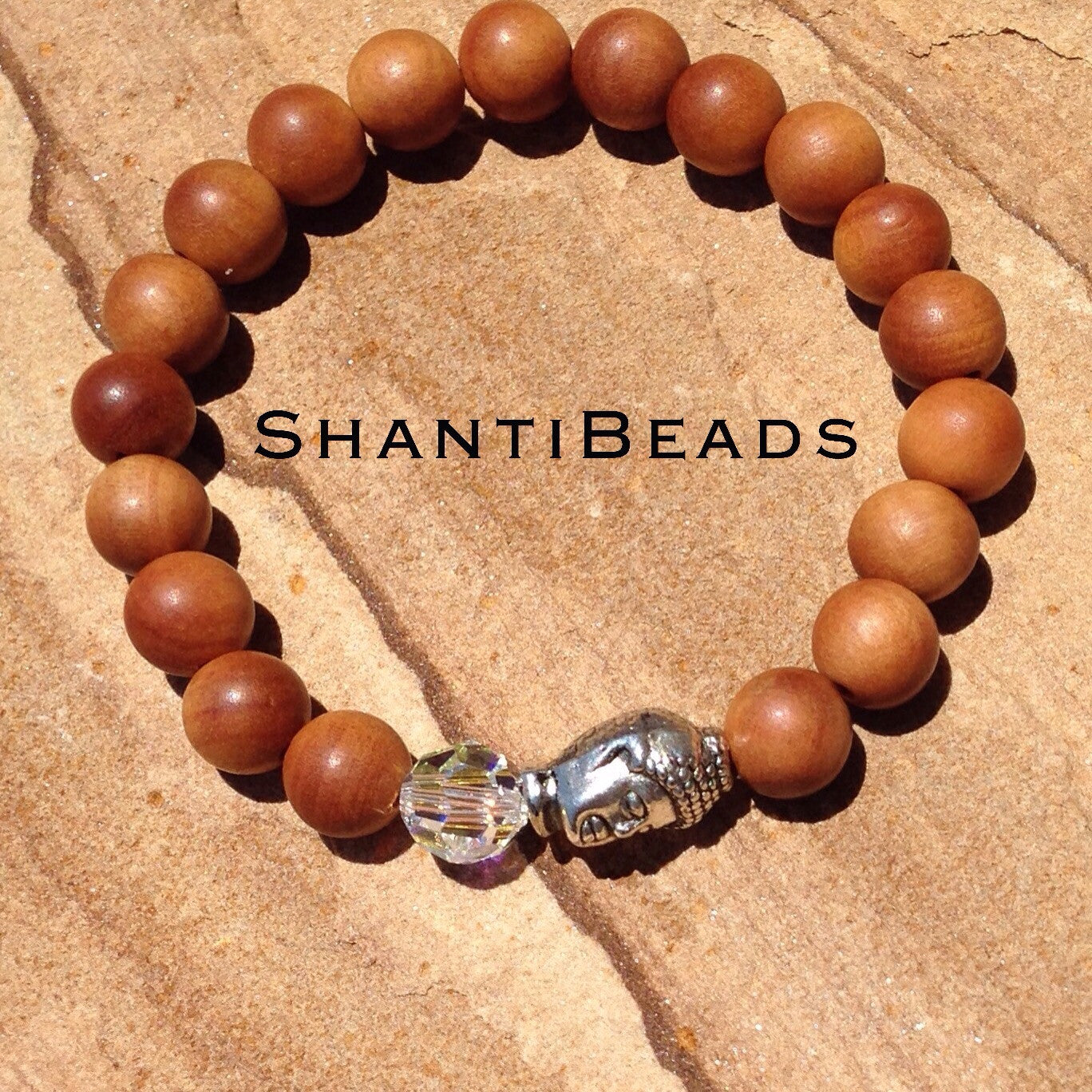 Fragrant Sandalwood Bracelet With Buddha Head...