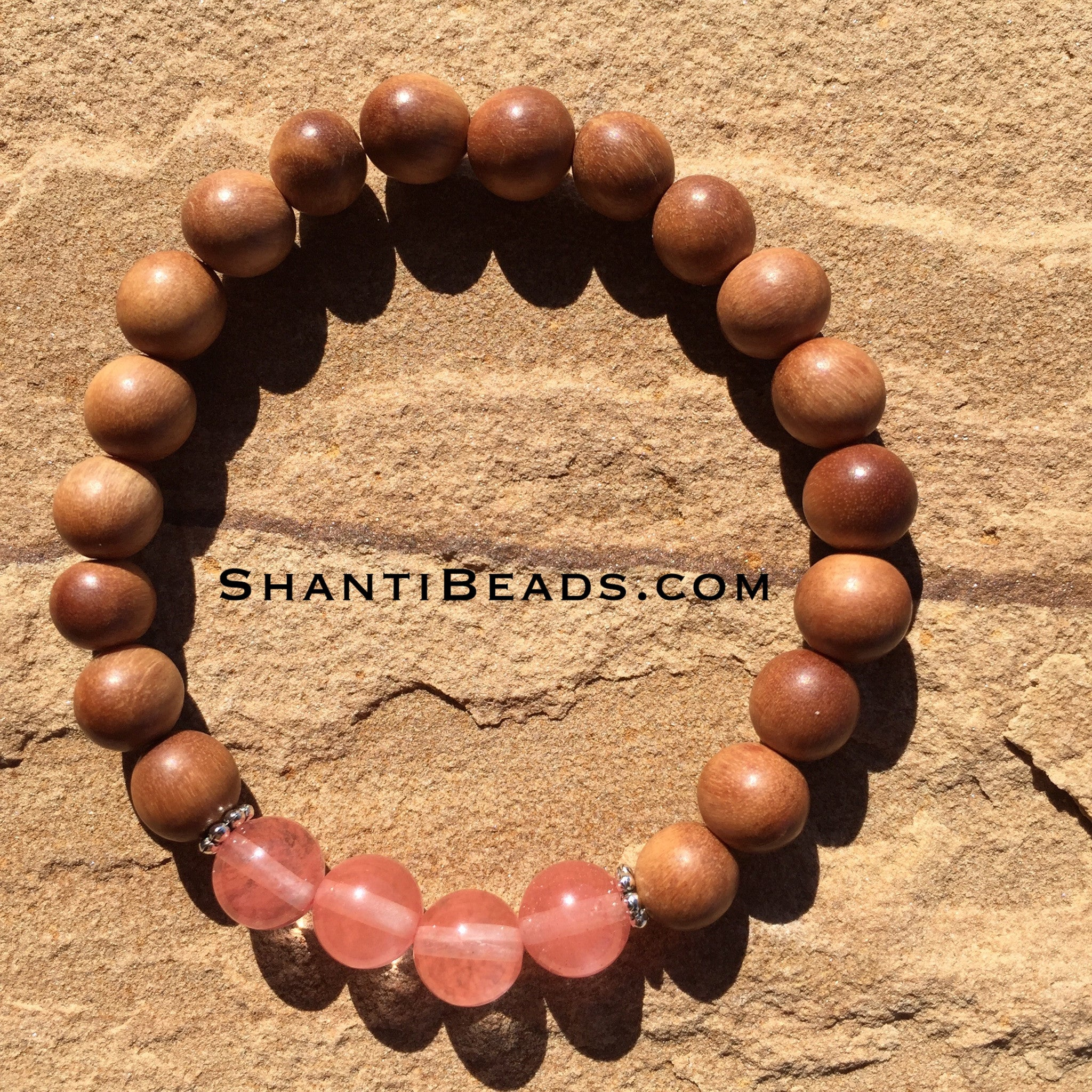 Fragrant Sandalwood With Cherry Quartz