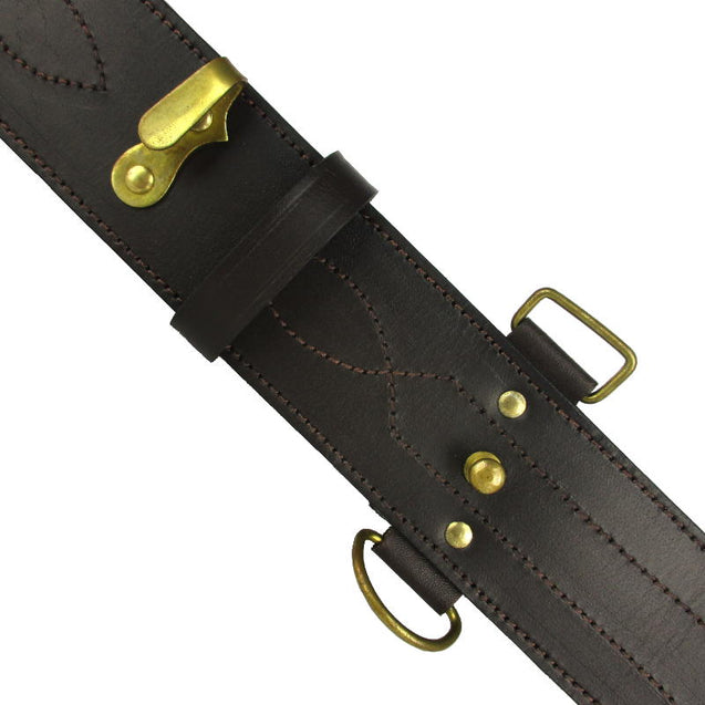 NZ Army Brown Leather Belt