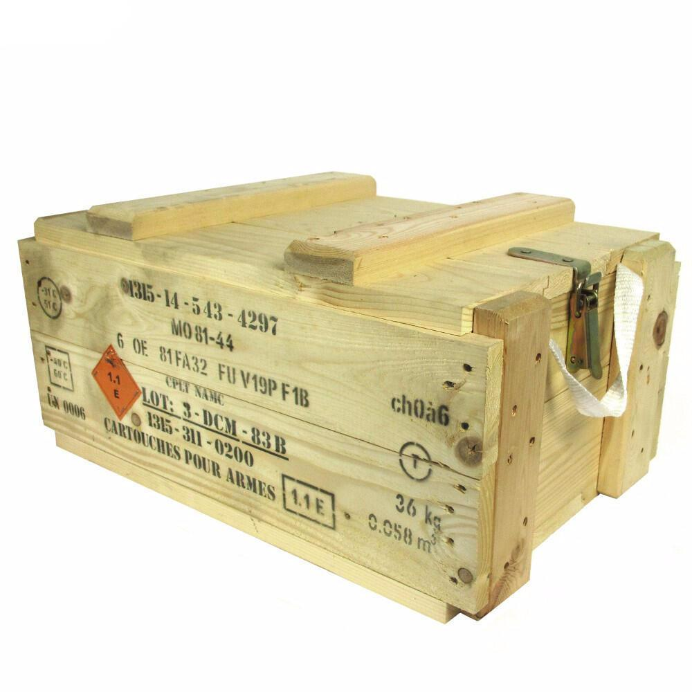 french army wooden ammo box army and outdoors