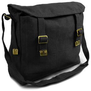 Medium Canvas Haversack - Black