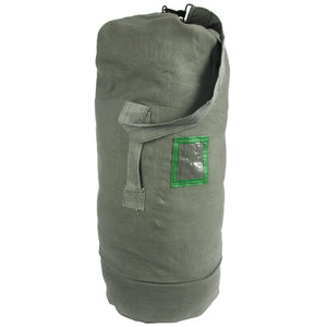Gray Canvas Duffel Bag