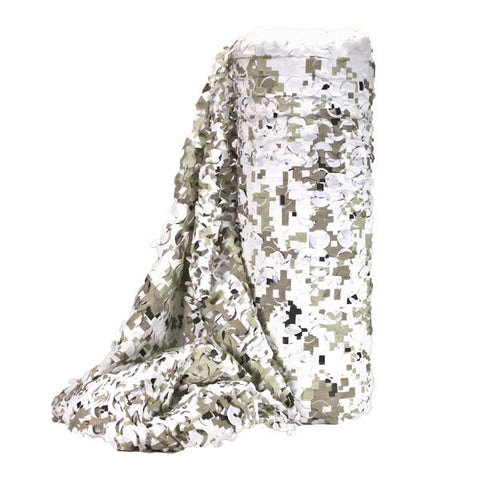 Digital Snow Camo Net - Per Metre