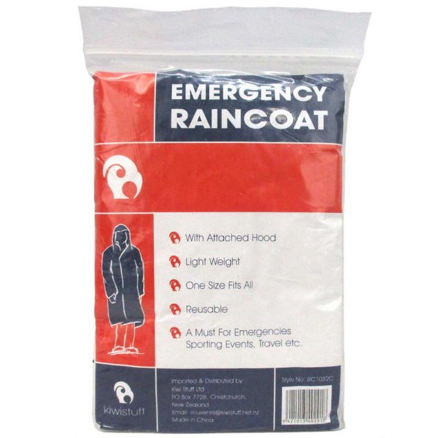 Emergency Reusable Plastic Raincoat